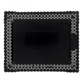 Vassoio di Carta Centrino Nero 18x25 cm (100 Pezzi)