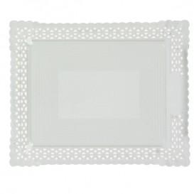 Vassoio di Carta Centrino Bianco 18x25 cm (50 Pezzi)
