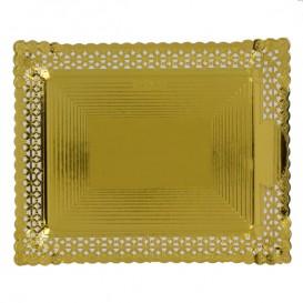Vassoio di Carta Centrino Oro 18x25 cm (100 Pezzi)