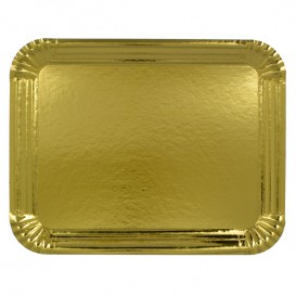 Vassoiodi Cartone Rettangolare Oro 10x16 cm (2200 Pezzi)