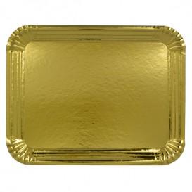 Vassoiodi Cartone Rettangolare Oro 34x42 cm (50 Pezzi)