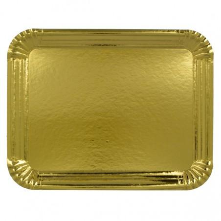 Vassoio di Cartone Rettangolare Oro 22x28cm (600 Pezzi)