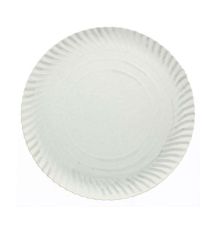 Piatto di Carta Tondo Bianco 210 mm 500g/m2 (800 Pezzi)