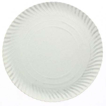 Piatto di Carta Tondo Bianco 210mm (800 Pezzi)