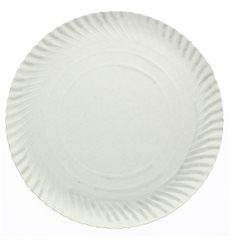 Piatto di Carta Tondo Bianco 230 mm 600g/m2 (100 Pezzi)