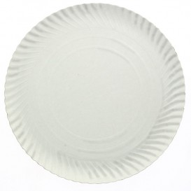 Piatto di Carta Tondo Bianco 160 mm 450g/m2 (900 Pezzi)