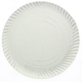 Piatto di Carta Tondo Bianco 250 mm 600g/m2 (100 Pezzi)