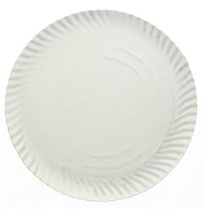Piatto di Carta Tondo Bianco 300 mm (400 Pezzi)