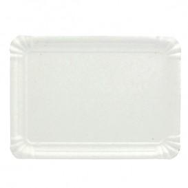 Vassoiodi Cartone Rettangolare Bianco 9x15 cm (100 Pezzi)