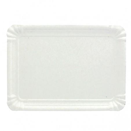 Vassoiodi Cartone Rettangolare Bianco 10x16 cm (100 Pezzi)