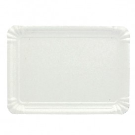 Vassoiodi Cartone Rettangolare Bianco 22x28 cm (100 Pezzi)
