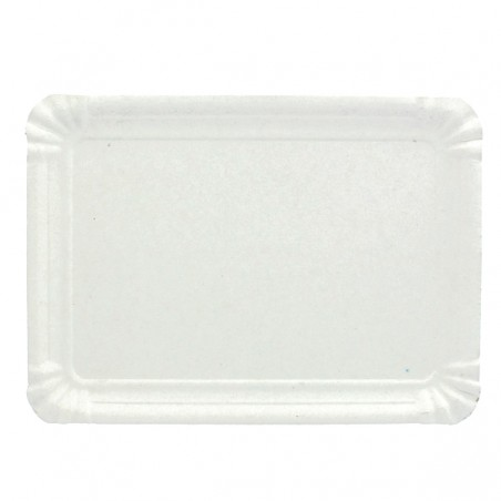 Vassoiodi Cartone Rettangolare Bianco 22x28 cm (600 Pezzi)