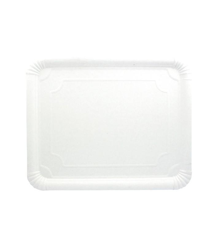 Vassoiodi Cartone Rettangolare Bianco 31x38 cm (50 Pezzi)
