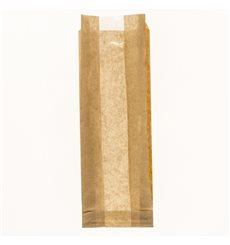 Sacchetto di Carta Kraft Finestra 10+4x29cm (125 Pezzi)