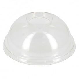 Coperchio Cupola PET con Foro Bicchieri PET e PLA Ø9,5cm (100 Pezzi)