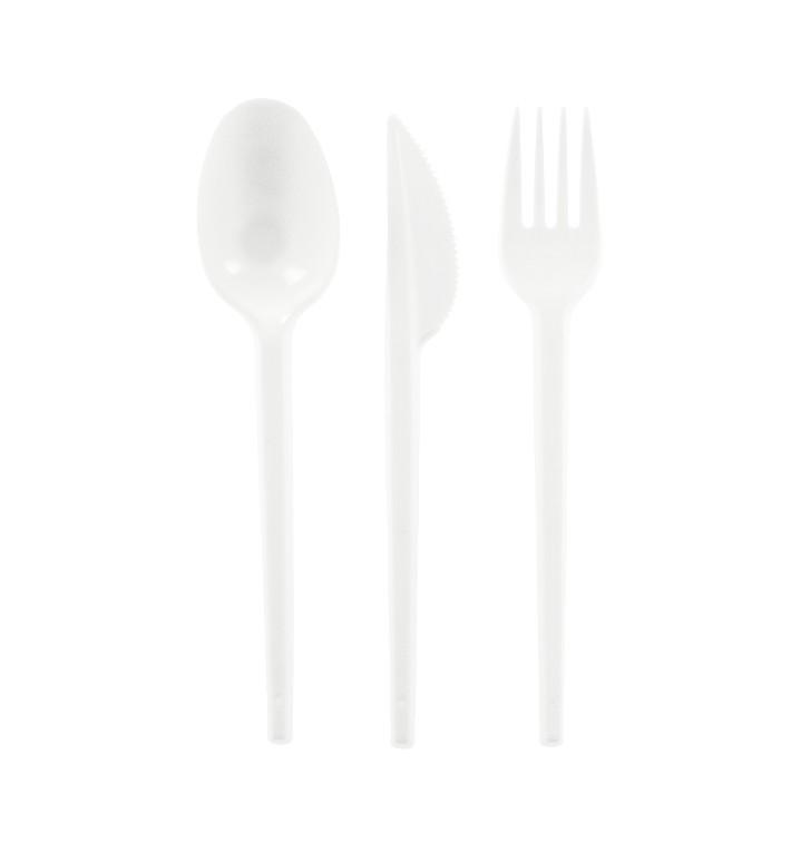 Set Posate Plastica Forchetta,Coltello,Cucchiaio (500 Pezzi)