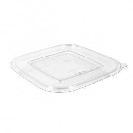 Coperchino Piatto di Plastica Ciotola PET 175x175mm (50 Pezzi)