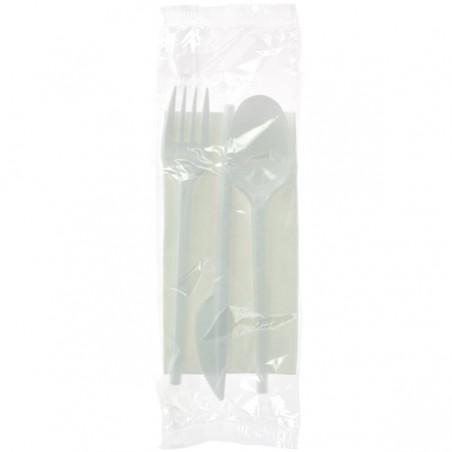 Set Posate Forchetta, Cucchiaio, Coltello e Tovagliolo  (500 Pezzi)