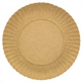Piatto di Carta Tondo Kraft 180 mm 255g/m2 (100 Pezzi)