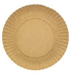 Piatto di Carta Tondo Kraft 250 mm (100 Pezzi)