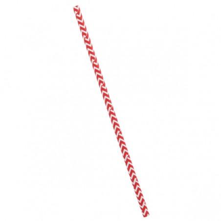 Cannucce Carta Dritta Rosso Bianco Ø6mm 20cm (100 Pezzi)