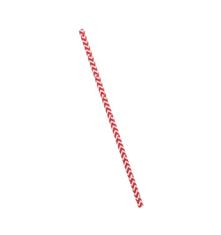 Cannuccia Dritta Carta Rosso Bianco Ø6mm 20cm (6000 Pezzi)