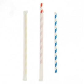 Cannuccia Flessible di Carta Insaccato Assortimento Ø6mm 23cm (250 Pezzi)