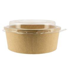 Contenitori di Carta Kraft-Kraft + Coperchio RPET 19 Oz/550 ml (50 Pezzi)