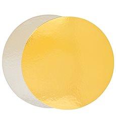 Disco di Carta Oro e Argento 260 mm (100 Pezzi)