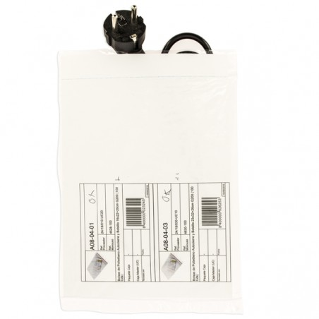 Sacchetti in PE Chiusura Zip e Tasca 16x22+20cm G200 (1000 Pezzi)