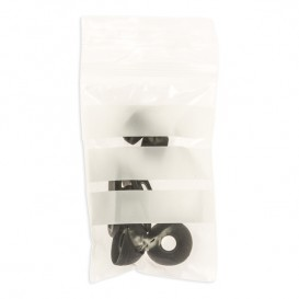 Sacchetti in PE Chiusura a Pressione Banda Scrittura 6x8cm G-200 (100 Pezzi)