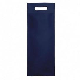 Sacchetto Non Tessuto per Bottiglia Blu 17+10x40cm (25 Pezzi)