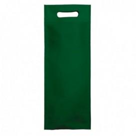 Sacchetto Non Tessuto per Bottiglia Verde 17+10x40cm (25 Pezzi)