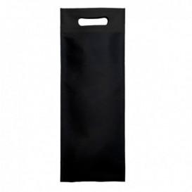 Sacchetto Non Tessuto per Bottiglia Nero 17+10x40cm (25 Pezzi)