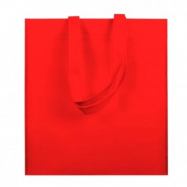 Sacchetto TNT Manico Lungo Rosso 38x42cm (25 Pezzi)