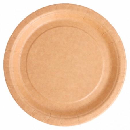 Piatto di Carta Biocoated Naturale Ø18 cm (400 Pezzi)