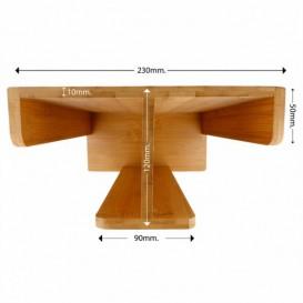 Distributore di bicchieri e Coperchio di Bambù (8 Pezzo)
