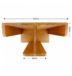 Distributore di bicchieri e Coperchio di Bambù 23x12x30cm (1 Pezzo)