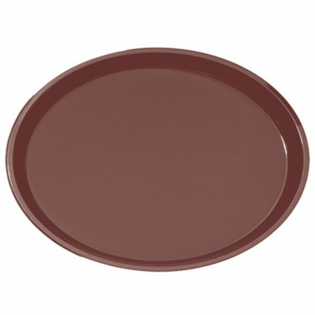 Vassoio PP Ovale Antitrascinante Marrone 67,0x55,5cm (1 Pezzi)