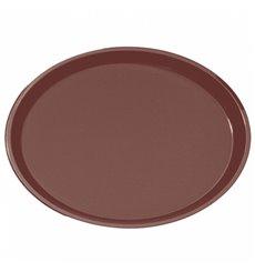 Vassoio PP Ovale Antitrascinante Marrone 67,0x55,5cm (6 Pezzi)