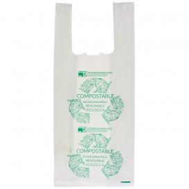 Sacchetto di Plastica Canottiera 100% Biodegradabile 35x50cm (2000 Pezzi)