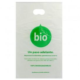 Sacchetti Plastica Manico Fustellato 100% Bio 20x33cm (3000 Pezzi)