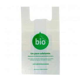 Sacchetto di Plastica Canottiera 100% Biodegradabile 50x55 cm (1000 Pezzi)