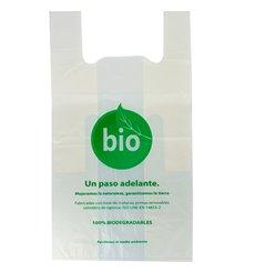 Sacchetto di Plastica Canottiera 100% Biodegradabile 55x60 cm (500 Pezzi)
