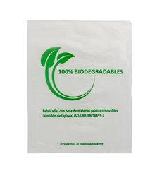 Sacchetti Plastica 100% Biodegradabile 23x30cm (100 Pezzi)