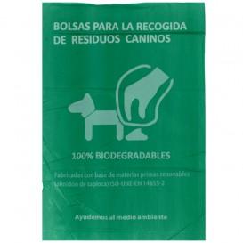Sacchetto per escrementi per cani 100% bio 20x33cm (100 Pezzi)