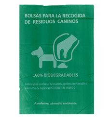 Sacchetto per escrementi per cani 100% bio 18x26cm (100 Pezzi)
