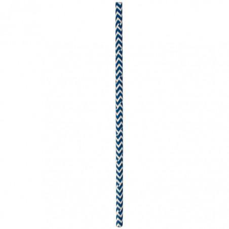 Cannucce Dritta Carta Blu Bianco Ø6mm 20cm (100 Pezzi)
