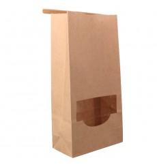 Sacchetto di Carta con chiusura e finestra 12+6x23,5cm (50 Pezzi)
