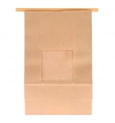 Sacchetto di Carta con chiusura e finestra 15+7x23cm (50 Pezzi)